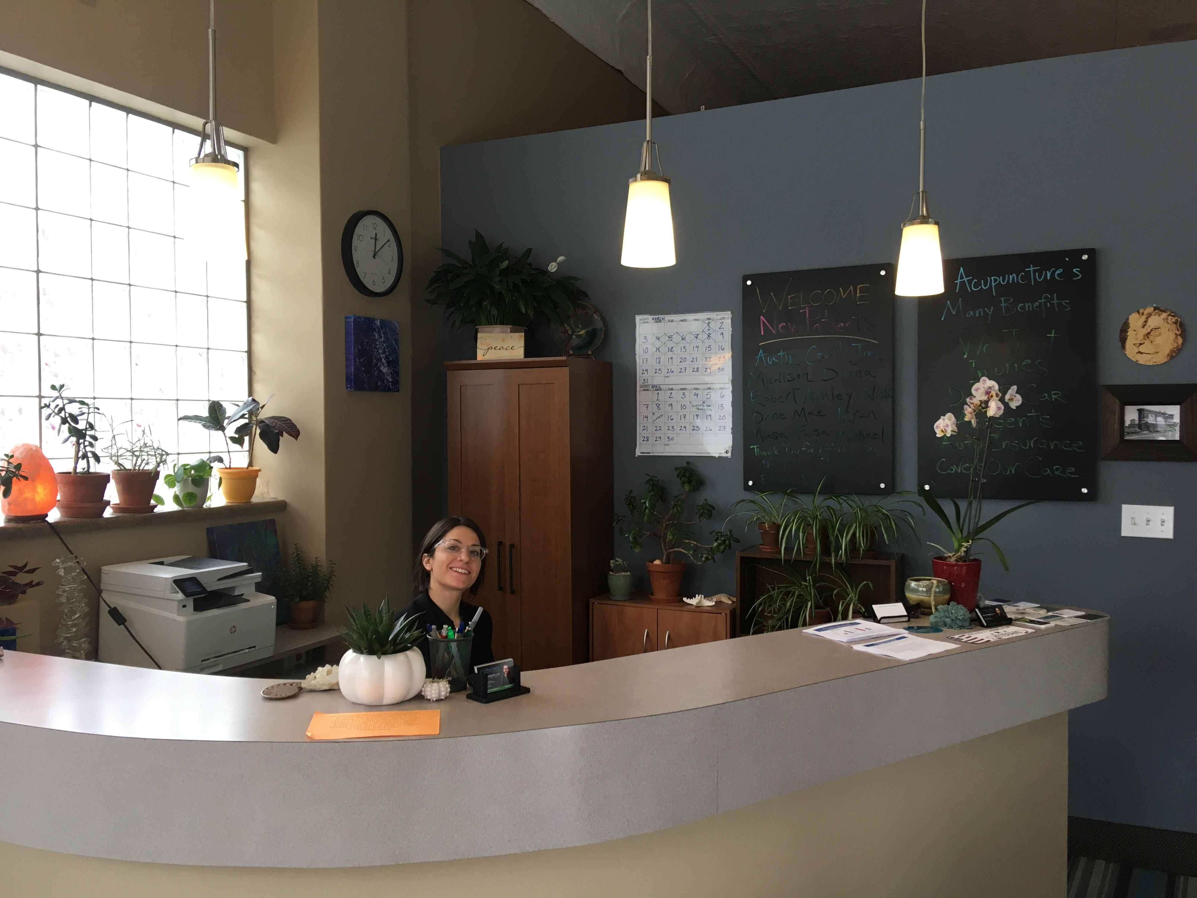 Acupuncture receptionist